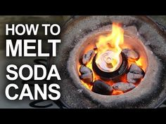 This looks totally dangerous and super fun. How to melt soda cans and make stuff.