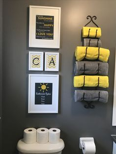 Diy Kids Bathroom Paint Chelsea Grey Benjamin Moore Towel Yellow And From Ikea Photo Frames Photos Were Created Using Canva