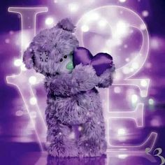 Holographic Tatty Teddy with Heart Me to You Bear Card Purple Love, All Things Purple, Purple Lilac, Purple Rain, Purple Stuff, Tatty Teddy, Urso Bear, Teddy Bear Quotes, Teddy Pictures
