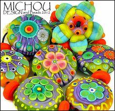 MICHOU- lampwork beads ♥