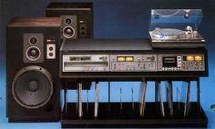 Vintage Sony setup with Sony PS-X60 Sony SS-G7 Sony ST-A7B Sony TA-F7B Sony TC-K7B MKII