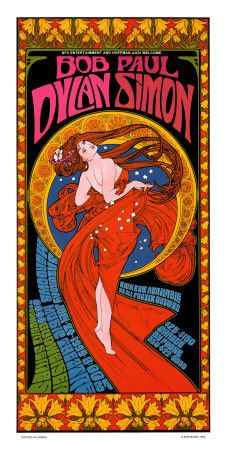 really into vintage concert posters, thinking about trying a craft project....