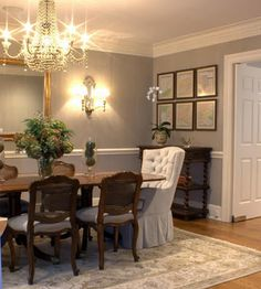 The Decor Scene: Inspirational Eye Candy - Gray Dining Rooms BM Chelsea gray