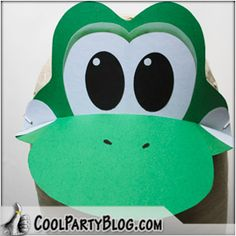 I am going to start making these Yoshi party hats: I borrowed the video from this website. We're planning on inviting his grade . Adult Halloween Party, Halloween Costumes, Halloween 2017, 6th Birthday Parties, 3rd Birthday, Birthday Ideas, Mario Party, Party Hats, Party Ideas