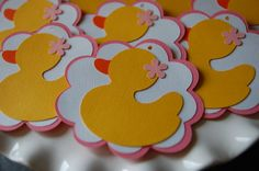 Rubber Duck Favor Tags Rubber Duckie Baby Shower by GiggleBees, $10.00