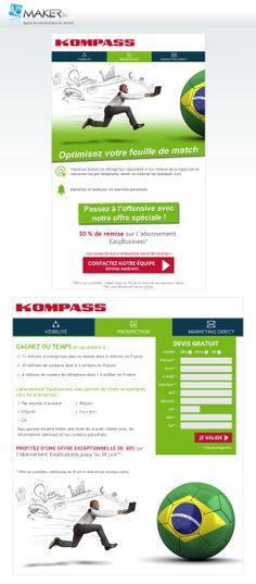 KOMPASS - Easybusiness - Création d'une newsletter et de sa landing page - Vous avez un projet... N'attendez plus, contactez nos équipes