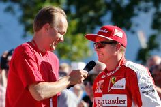 You need the right man to interview Finnish Formula One driver Kimi Räikkönen if you want to see him smile. F1. Interviewer Oskari Saari 18.8.2015 in Helsinki. Photo by Jukka Kolari, Coriosi www.coriosi.com