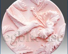 Silicone Soap Mold - Hummingbird in Hibiscus Garden Soap Molds, Silicone Molds, Hibiscus Garden, Blue Lotus Flower, Soap Carving, Candle Molds, Home Made Soap, Handmade Soaps, Cold Porcelain