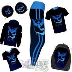 Team Mystic is ready to rock! Evolve your wardrobe now! Shop the link in my bio! #figmentcostuming #backtoschool #pokemon #pokemongo #mystic #teammystic #teamblue #blueteam #articuno #leggings #yoga #hoodie #comfy