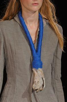 Yohji Yamamoto S/S '13 | wrapped and felted neckpiece