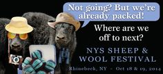 Ready your Rhinebeck sweaters….we're headed to the New York Sheep & Wool Festival this weekend (Oct. 18 & 19) in Rhinebeck, NY!  This weekend, look for Bijou Basin Ranch in Building C, Booths 13 & 14!  We'll have all of your favorite luxury yarns and patterns, including the Outlandish collection of hand-dyed colorways and our Outlander-inspired project kits (pictured below). We'll also have our brand-new fiber wash, Allure!