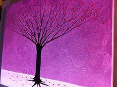Tree of Hearts  16 x 20 acrylic on canvas ready by MichaelHProsper, $49.00