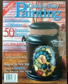 Paintworks Quick Easy Painting Magazine February 2007 Orted Tole Patterns Snowmen Fl Folk Art