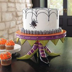 Witch's Shoe Halloween Cake Stand