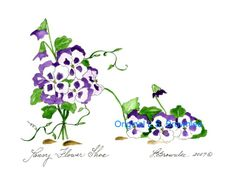 PANSY FLOWER SHOE - ORIGINAL SOLD BUT PRINTS STILL AVAILABLE.