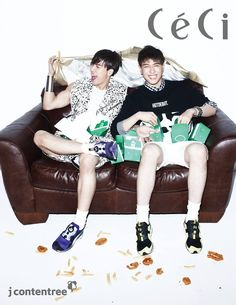 GOT7 (Jackson et Yugyeom) - Photoshoot Céci Magazine Mars 2014 (5)
