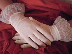 Vintage Wedding Gloves White by hopsack on Etsy, $6.00