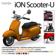Second Life Marketplace - iON Scooter-U