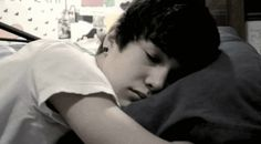 Austin Carter Mahone something about him sleeping makes me love him more