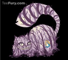 July 9th Tee Fury T-Shirt Design Features Cheshire Cat and Alice