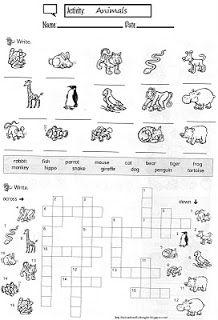 Mi cuadernillo de inglés: Aprende el nombre de los animales