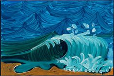 David Hockney Seascape, 1989 oil on canvas 24 x 36 in. (61 x 91.4 cm) Private collection