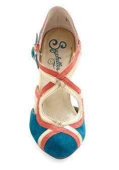 Petunia Heel in Teal, #ModCloth