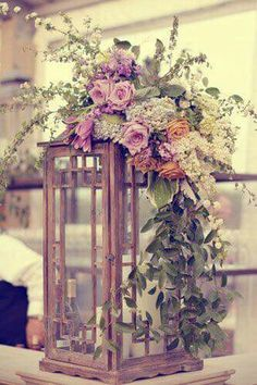 Florals for top of lanterns at Tequila Sipping Station and possibly the entrance. Florals for top of lanterns at Tequila Sipping Station and possibly the entrance near herb garden. Lantern Centerpieces, Wedding Centerpieces, Wedding Table, Rustic Wedding, Lanterns, Our Wedding, Destination Wedding, Wedding Planning, Wedding Decorations