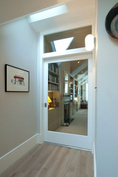 A clever sliding door the new opening created by Open Space at a side return extension in North London