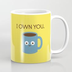 Coffee Talk Coffee Mug by David Olenick | Society6 #home #homedecor #fun #cute
