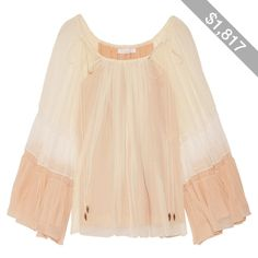 Chloé Fluted silk-crepon blouse