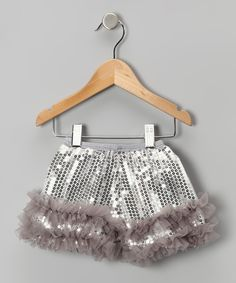 Take a look at this Silver Sequin Shorts - Infant, Toddler & Girls on zulily today!