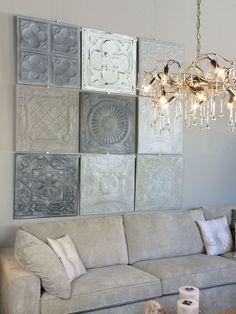#Wanddecoratie gemaakt van wandpanelen van #metaal. Deze combinatie is te bewonderen bij Het Heerenhuys in Wateringen