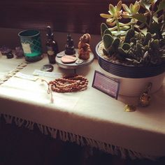 """Working on my new altar space:) Office redesign is happening! Filling my space with only those things that bring me joy! Reading the """"Life Changing Magic of Tidying up."""" Love it! #thereisabetterway #apeacefulheartcoaching #livewithjoy #tidyingup"""