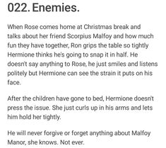 Enemies - Romione Harry Potter Jokes, Harry Potter Universal, Harry Potter Fandom, Harry Potter Next Generation, Ron And Hermione, Enemies, Hogwarts, Fandoms, Livros