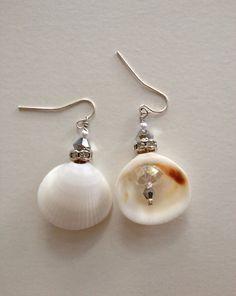 Seashell earrings beach wedding by ishkabibblesdesigns on Etsy, $24.00