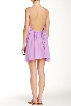 Low Back Sleeveless Swing Dress
