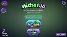 Look at my high score #slither.io #highscore #cool #featurethis #like4like