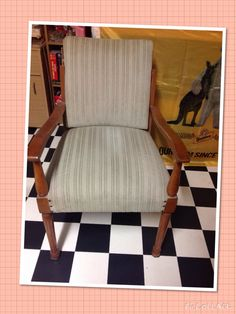 Beautiful solid chair, a recent purchase from Grannies Drawers