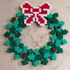 Christmas wreath hama beads by gas_ali2002