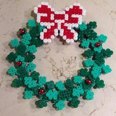 Christmas wreath hama beads by gas_ali2002