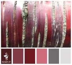 Tree Bark: Plum, Mauve, Red, Pink, Grey, Slate - Colour Inspiration pallet