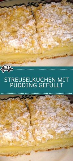 Crumble cake filled with pudding - the kitchen-Streuselkuchen mit Pudding gefüllt – Die Küche Crumble cake filled with pudding – the kitchen - Baking Recipes, Cake Recipes, Dessert Recipes, Pudding Ingredients, Pudding Cake, Food Cakes, Cakes And More, Cake Cookies, No Bake Cake