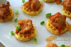 Mini Chicken and Waffle Bites
