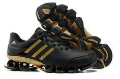 88041372f91 Tenis Adidas Bounce V2 Leather Mens Black Golden Sport Running ... Boty  Adidas