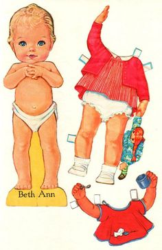 Beth Ann-Another Paper Doll that I had growing up.