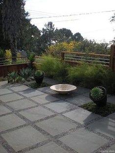 29 Trendy Flagstone Patio With pea-gravel - Alles für den Garten Concrete Paver Patio, Pea Gravel Patio, Backyard Patio, Backyard Landscaping, Patio Stone, Stone Driveway, Paver Sand, Cement Pavers, Driveway Pavers