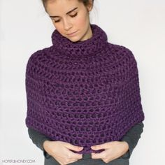 Basic Crochet Capelet free pattern