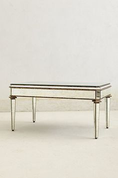 Mirrored Coffee Table #anthropologie #pintowin Perhaps the matching nightstand and coffee table in the bedroom would work well
