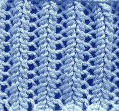 ściegi na drutach - ażurowy ściągacz